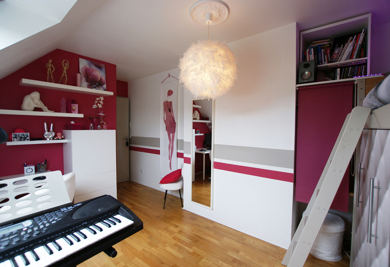 d coration d 39 une chambre d 39 adolescente. Black Bedroom Furniture Sets. Home Design Ideas